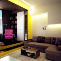 Угловой диван в однокомнатной квартире серии П44т