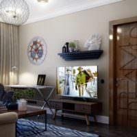 Свет в гостиной однокомнатной квартиры