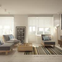 Интерьер однокомнатной квартиры площадью 40 квадратов