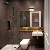 Дизайн санузла в однокомнатной квартире современного стиля