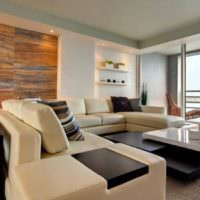 Дерево в дизайне однокомнатной квартиры