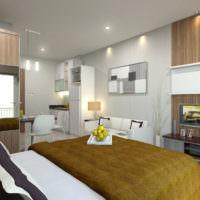 Потолочные светильники в однокомнатной квартире