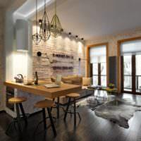 Дизайн однокомнатной квартиры 40 кв м с оттенками коричневого цвета