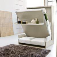 Мебель-трансформер в интерьере однокомнатной квартиры