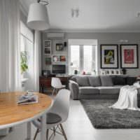 Декорирование пространства комнаты картинами