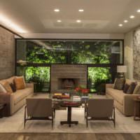 Встроенные светильники в дизайне освещения жилой комнаты
