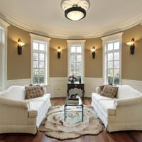 Дизайн освещения в гостиной классического стиля