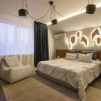 Декорирование спальни с помощью осветительных приборов