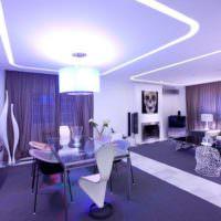 Неоновая подсветка потолка в квартире