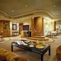 Точечные светильники в дизайне гостиной