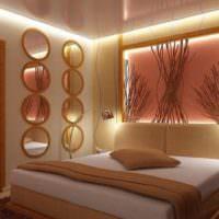 Подсветка ниши над изголовьем кровати