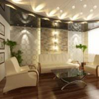 Игра света в дизайне жилой комнаты
