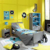 Желтый цвет в дизайне детской комнаты