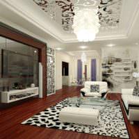 Сочетание черного с белым в дизайне помещения