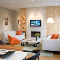 Акценты оранжевого в дизайне помещения