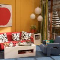 Оранжевый и красный цвета в дизайне помещений