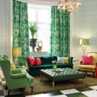 Проебладание зеленого цвета в дизайне помещения