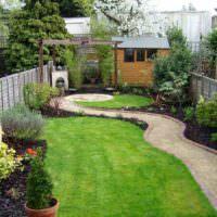 Планировка узкого садового участка