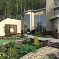 Обустройство пространства перед загородным домом