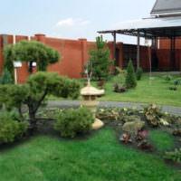 Лужайка с кустарниками в дизайне сада