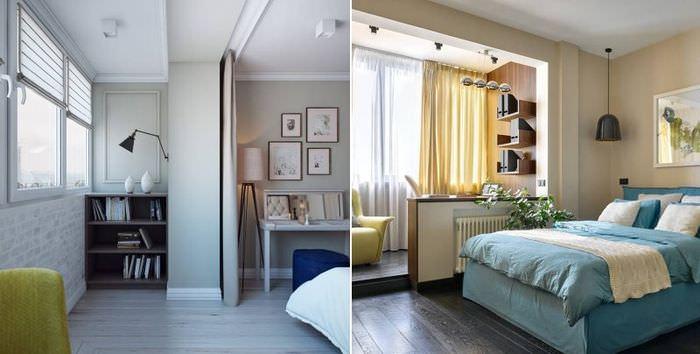 Дизайн балконов, совмещенных со спальной комнатой в городских квартирах