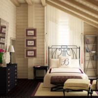 Отделка комнаты крашенными деревянными панелями