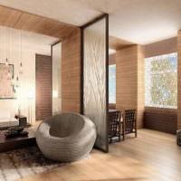 Декорирование интерьера деревянными панелями