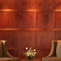 Облицовка стены деревянными панелями