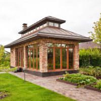 Дизайн садовой беседки закрытого типа в восточном стиле