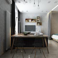 Ободенная зона в однокомнатной квартире кирпичного дома