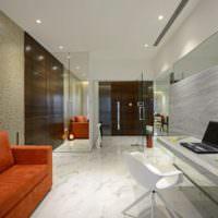 Контрастные цвета в дизайне однокомнатной квартиры
