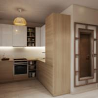 Оттенки коричневого в интерьере однокомнатной квартиры