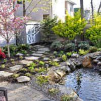 Ландшафтный дизайн участка с искусственным водоемом