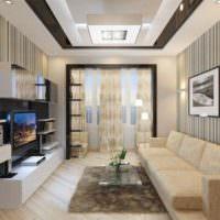 Оттенки бежевого цвета в интерьере гостиной