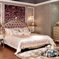 Оформление спальной супругов в неоклассическом стиле