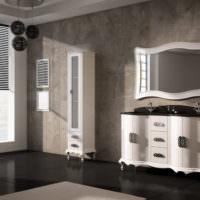 Ванная комната с интерьером в стиле неоклассики