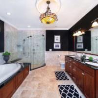 Современная ванная в стиле неоклассики