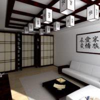 Восточные мотивы в дизайне спальни-гостиной