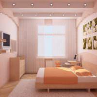 Розовая спальня для молодой девушки