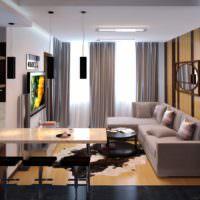Оформление квартиры-студии для холостого мужчины