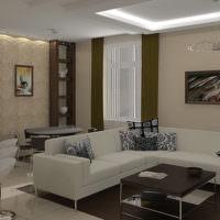 Светло-серый диван в квартире-студии