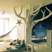Дерево в дизайне сказочной комнаты