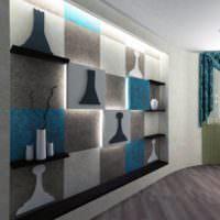 Шахматные мотивы в декорировании жилой комнаты