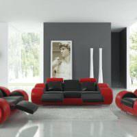 Эффектная дизайнерская мебель в гостиной