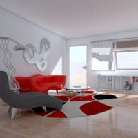 Плавные линии в дизайне гостиной в стиле минимализма