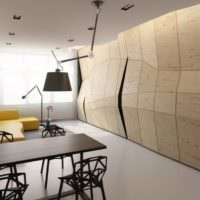 Ломаная стена из фанерных листов своими руками