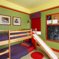 Дизайн детской комнаты с оливковыми стенами