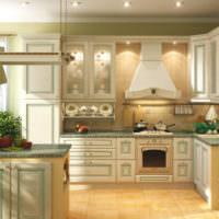 Использование оливковых оттенков в дизайне кухни