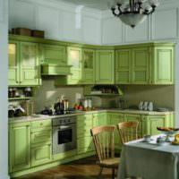 Оливковый цвет в дизайне современной кухни