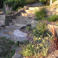 Подпорные стенки из природного камня